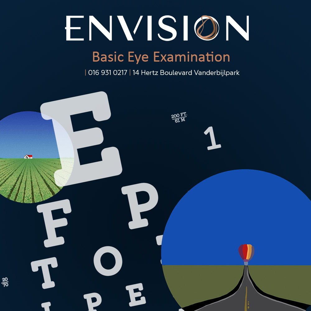 Basic tests during an eye examination
