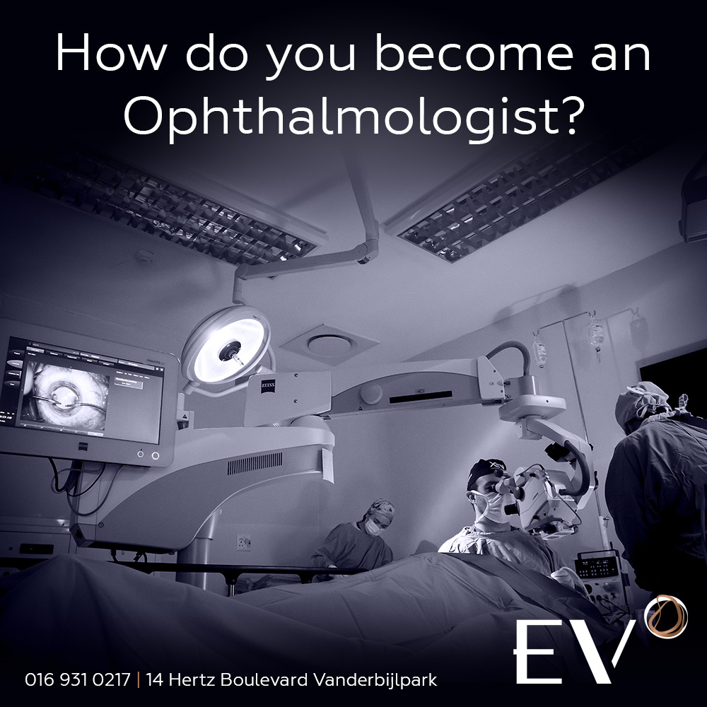 How do you become an Ophthalmologist?