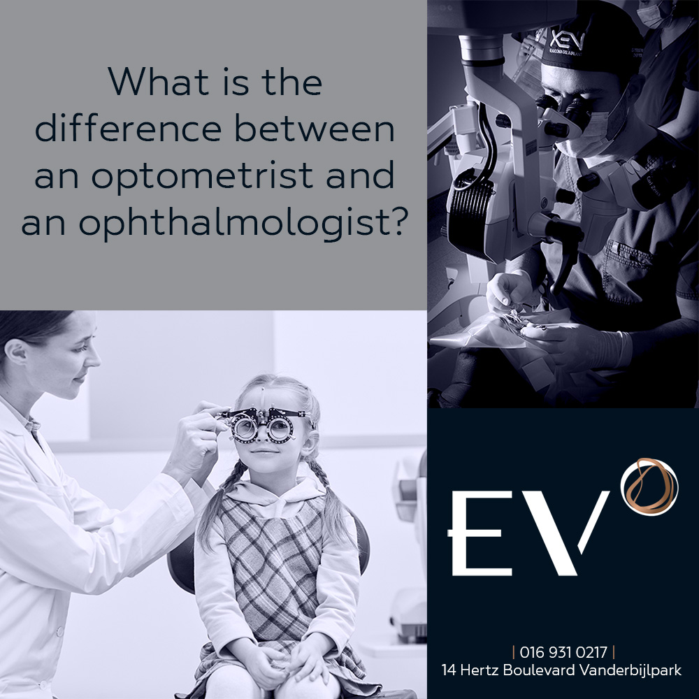 What is the difference between an Optometrist and an Ophthalmologist?